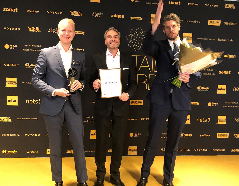 2019 års vinnare Retail Awards Årets e-handel