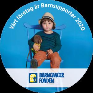 Vi stöttar Barncancerfonden
